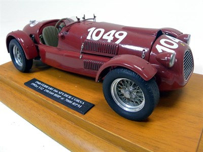 Lot 206-Ferrari 166 Spyder Scratch-Built Model