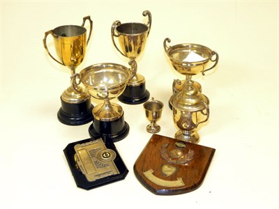 Lot 401-Motorcycle Racing Trophies