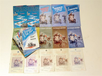 Lot 138-London to Brighton Veteran Car Run Programmes
