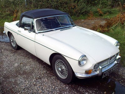 Lot 37-1967 MG B Roadster