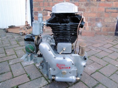 Lot 74-Royal Enfield Engine