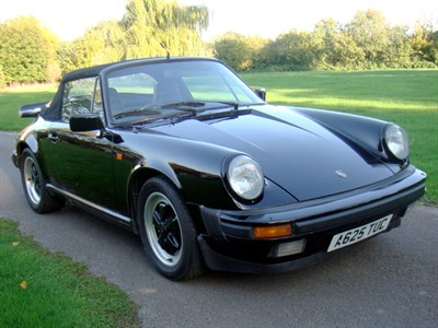 Lot 43-1984 Porsche 911 Carrera 3.2 Cabriolet
