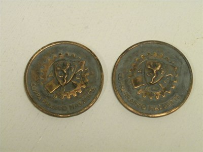Lot 218 - Two Mille Miglia Finishers Medals