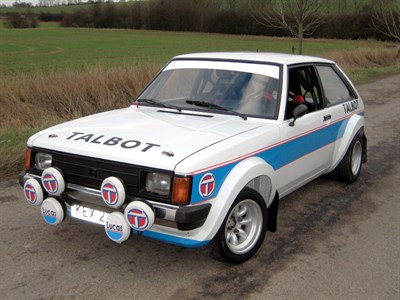 Lot 46 - 1979 Talbot Sunbeam Lotus Group 2 Rally Car