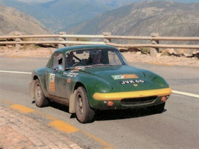 Lot 44 - 1966 Lotus Elan S2 Rally Car