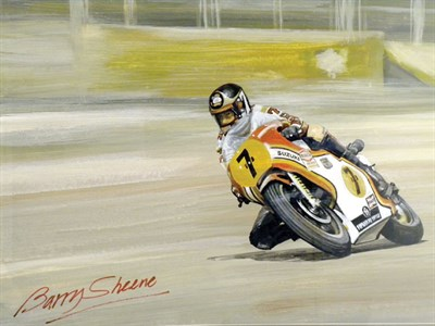 Lot 502 - Barry Sheene Original Artwork by B.D. Taylor