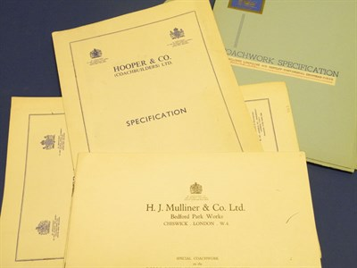 Lot 111 - Seven Rolls-Royce/Bentley Specification Folders