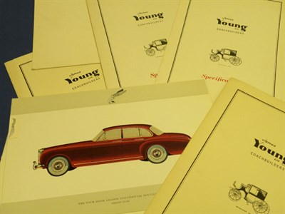 Lot 112 - Six Rolls-Royce / Bentley Specification Folders