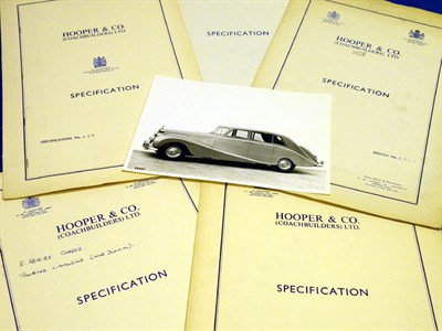 Lot 117 - Six Rolls-Royce / Bentley Specification Folders