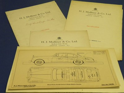 Lot 118 - Four H.J Mulliner & Co. Specification Folders
