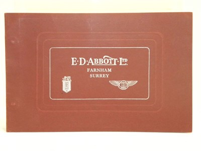 Lot 127 - E.D. Abbott Coachwork Catalogue
