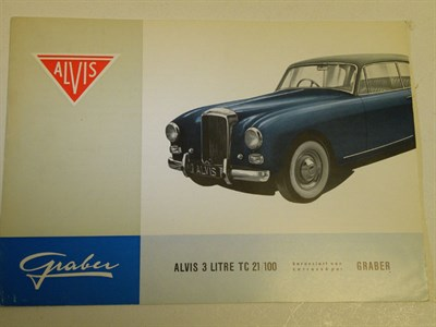 Lot 130 - Alvis TC21 'Graber' Sales Brochure