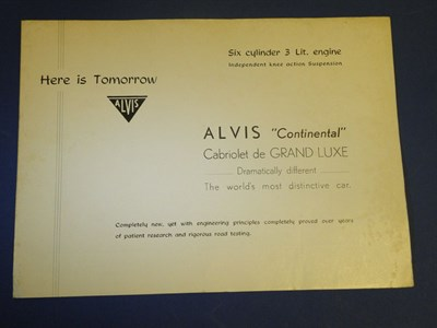Lot 131 - Alvis Continental Cabriolet Sales Brochure