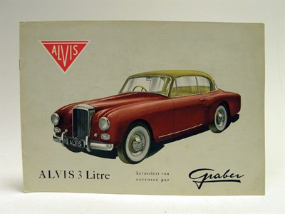 Lot 132 - Alvis 3 litre 'Graber' Sales Brochure