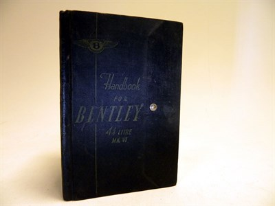 Lot 101 - Bentley 4.25 Litre Handbook