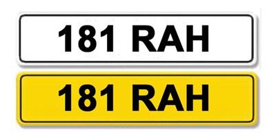 Lot 2 - Registration Number 181 RAH