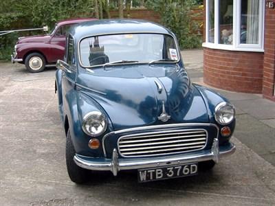 Lot 2-1966 Morris Minor 1000