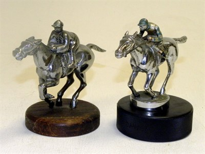 Lot 327-Two Horse & Jockey Mascots