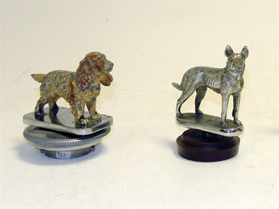 Lot 339-Two Dog Accessory Mascots