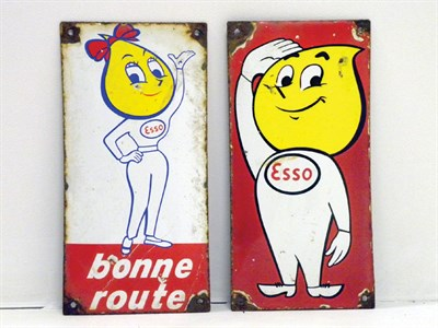 Lot 701-Two Rare Esso Enamel Signs
