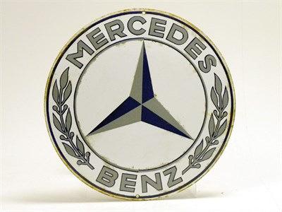 Lot 704-Mercedes-Benz Circular Enamel Sign