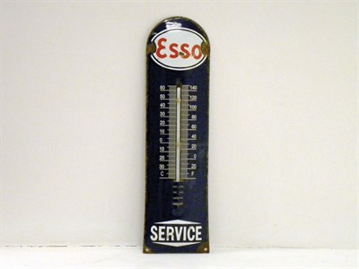 Lot 706-Early Esso Enamel Garage Thermometer
