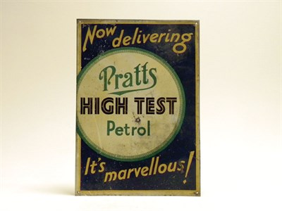 Lot 703-Pratts Tin Sign