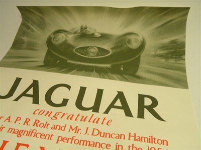 Lot 503-A Jaguar Victory Poster