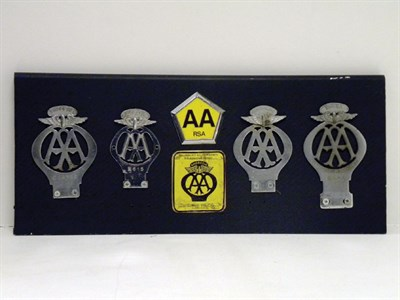 Lot 322-Five A.A. Badges