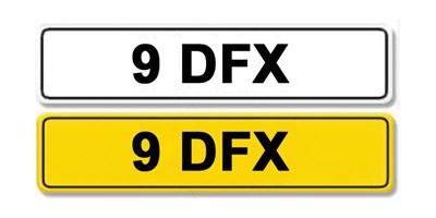 Lot 1-Registration Number 9 DFX