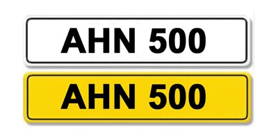Lot 3-Registration Number AHN 500
