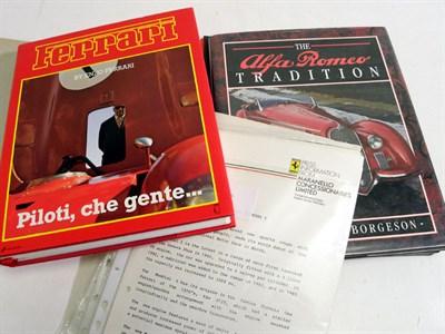 Lot 101 - Alfa Romeo & Ferrari Books