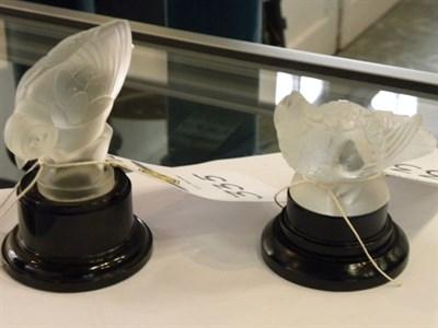 Lot 335 - Two Glass Bird Mascots