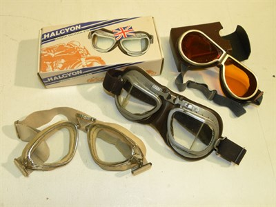 Lot 330 - Four Pairs of Motoring Goggles