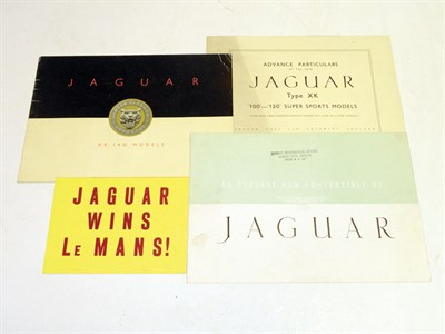 Lot 112 - Four Jaguar Sales Brochures