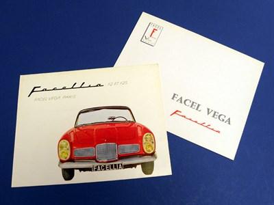 Lot 121 - Two Facel Vega Brochures