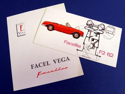 Lot 122 - Two Facel Vega Brochures