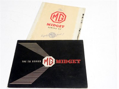 Lot 123 - Two MG Sales Brochures