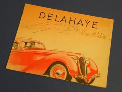 Lot 128 - Delahaye Pour Elite Sales Brochure