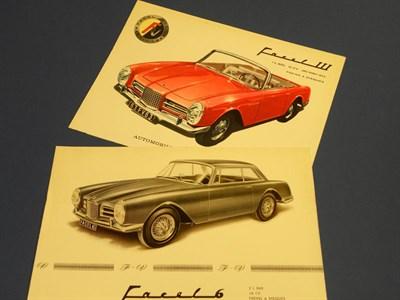 Lot 132 - Two Facel Vega Brochures