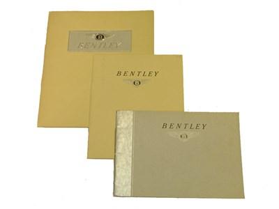 Lot 133 - Three Bentley Sales Brochures