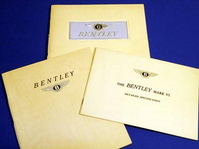 Lot 134 - Three Bentley Sales Brochures