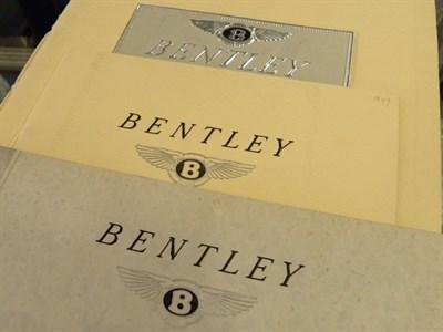 Lot 135 - Three Bentley Sales Brochures