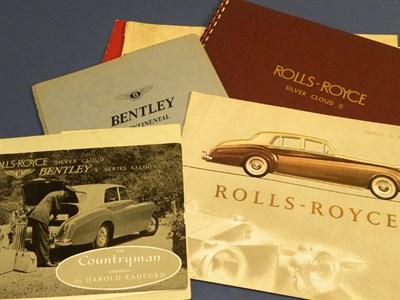 Lot 139 - Seven Rolls-Royce/Bentley Sales Brochures