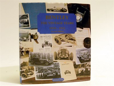 Lot 141 - Bentley 'The Vintage Years' by Hay