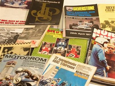 Lot 154 - Quantity of Motor Racing Programmes