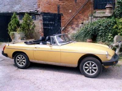 Lot 43-1976 MG B Roadster