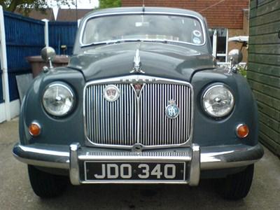 Lot 55-1956 Rover P4 75 MK II