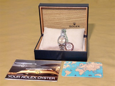 Lot 800 - Rolex 'Oyster' Datejust Ladies Wristwatch