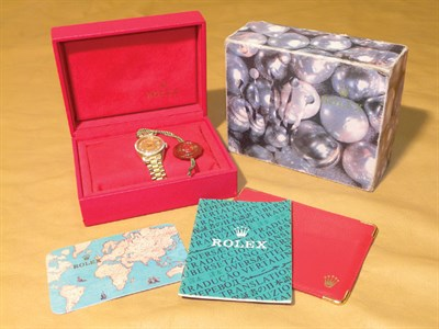 Lot 801 - Rolex 'Oyster' Datejust Ladies Wristwatch